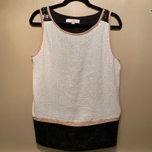 LOFT Sequenced Front Sleeveless Blouse